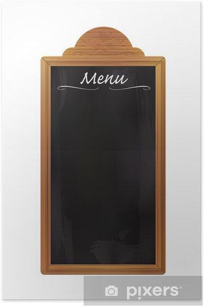 Poster Blank Blackboard restaurant en bois isolé - Arrière plans