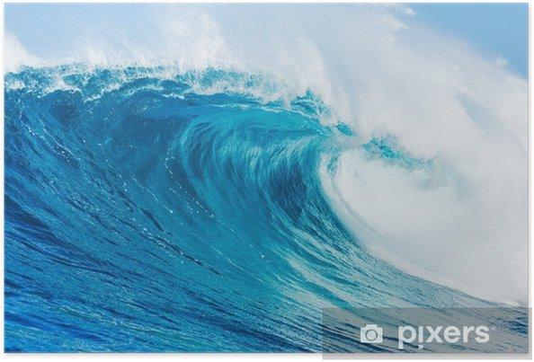 Poster Blauwe golf - Strand en de tropen