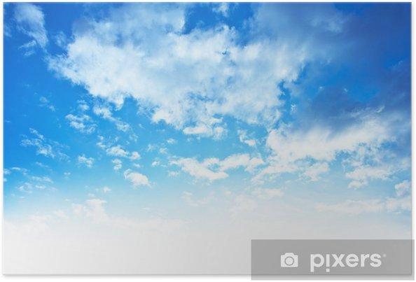Poster Bleu Ciel Fond Frontière Pixers Nous Vivons Pour Changer