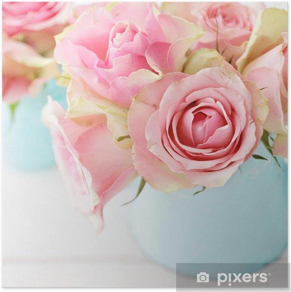Poster Bloemen in een vaas - Bloemen