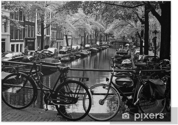 Poster Bloemgracht d'Amsterdam - Vélos
