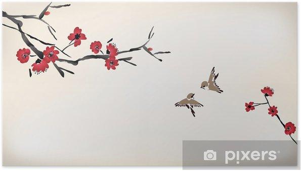 Poster Bloesem schilderij - Stijlen
