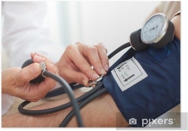 Blood pressure measuring. Poster - Health and Medicine