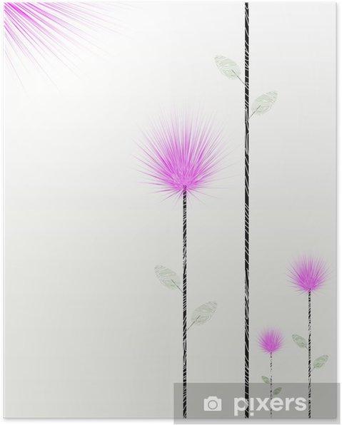 Poster Bloom s'épanouir - Arrière plans
