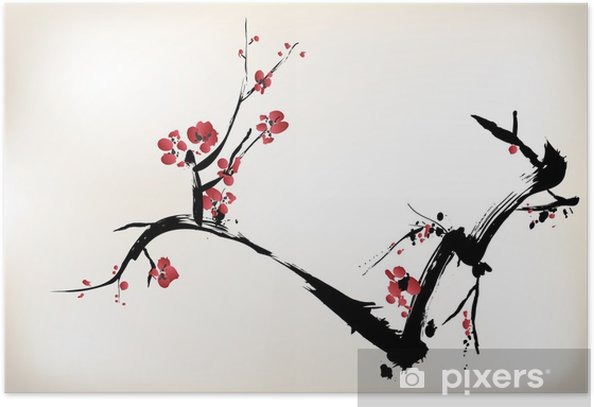 blossom painting Poster - Styles