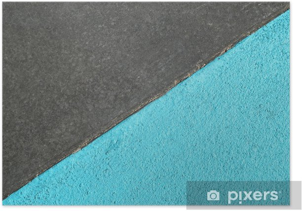 Blue and gray textured surface of asphalt for abstract background, top view. Poster - Graphic Resources