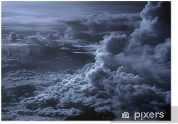 blue clouds Poster - Themes