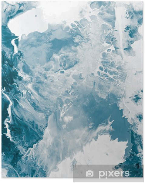 Blue marble texture. Poster -