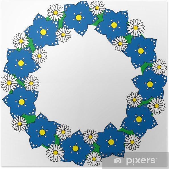 Poster Blumenkranz - Fleurs