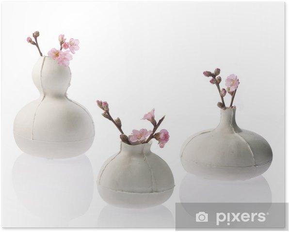 Poster Blumenvasen mit Blumen - Maisons et jardins