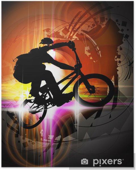 Poster BMX fietser - Wielersport