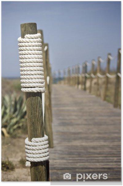 Attraktiva Poster Board-walk rep staket på stranden • Pixers® - Vi lever för SU-49