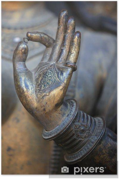 Poster Boeddha de hand - Thema's
