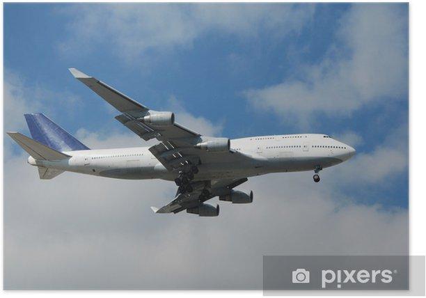 Poster Boeing 747 jumbo jet - Amérique