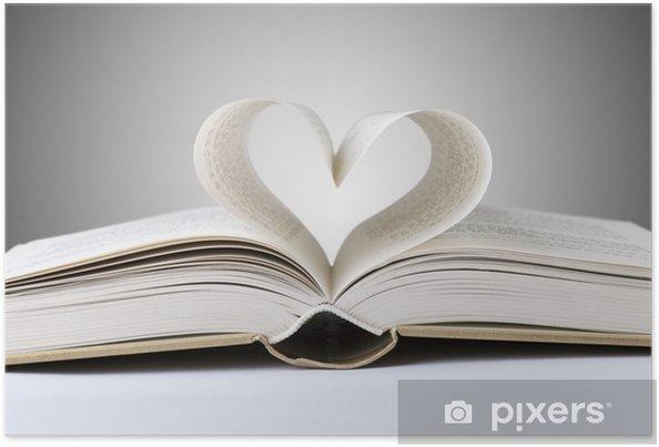 Poster Boek hart - Lezen