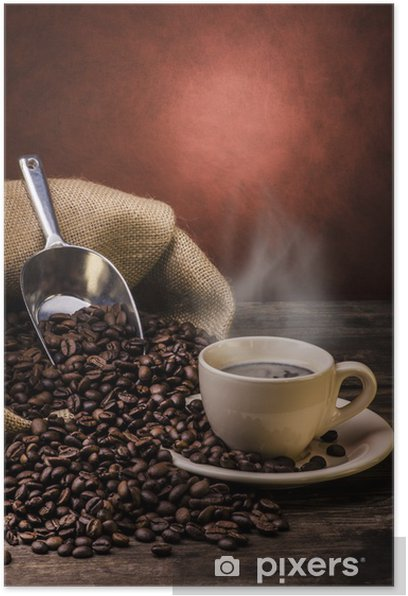 boiling black coffee Poster - Themes