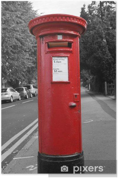Poster Boite Aux Lettres Rouge Pixers Nous Vivons Pour Changer