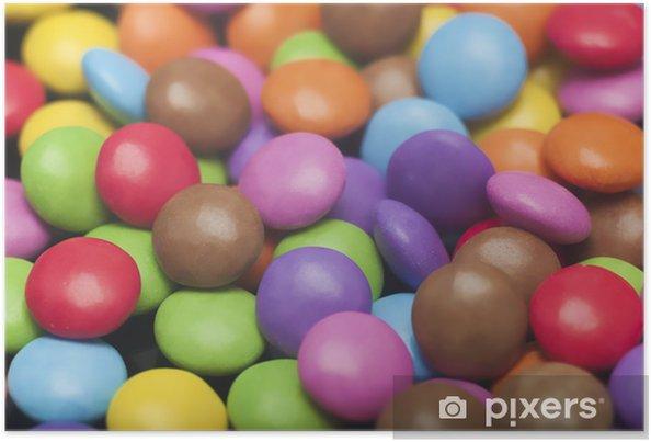 Poster Bonbons colorés - Desserts et friandises