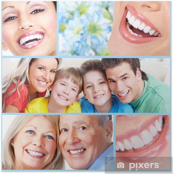 Poster Bonne sourire les gens. - Santé et médecine