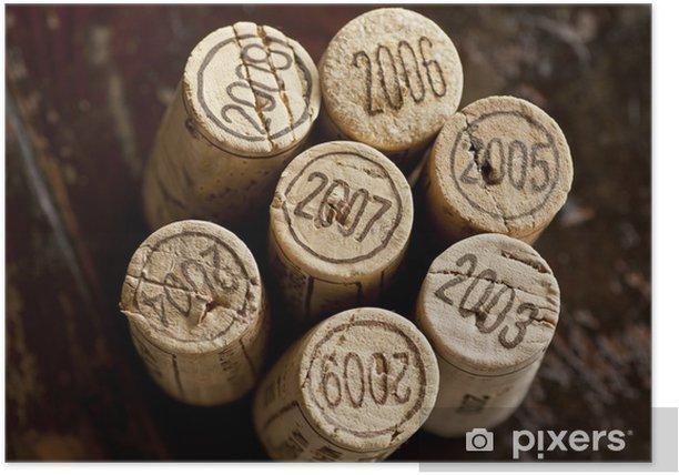 Bordeaux red wine bottle corks Poster - Meals