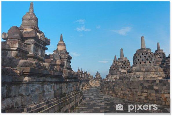 Poster Borobudur Temple, Yogyakarta, Java, en Indonésie. - Asie