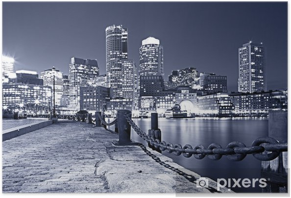 Poster Boston in Massachusetts, USA - Thema's