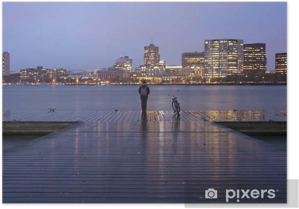Poster Boston Massachusetts Charles River Basin - Amérique