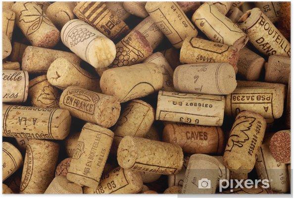 Poster Bouchons de bouteilles de vin - iStaging