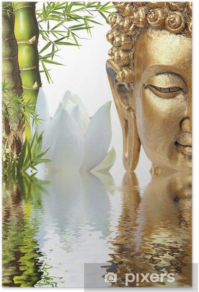 Poster Bouddha, bambou et fleur de lotus - Thèmes