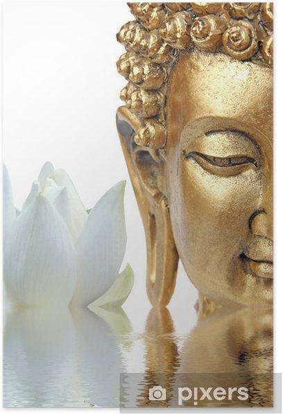 Poster Bouddha fleur de lotus - Bouddhisme