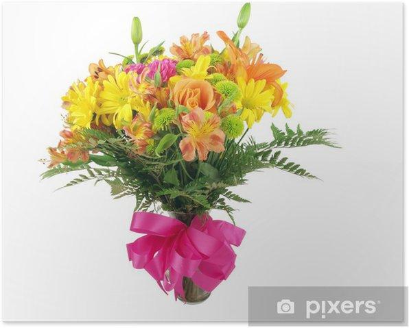 Poster Bouquet de fleur - Fleurs
