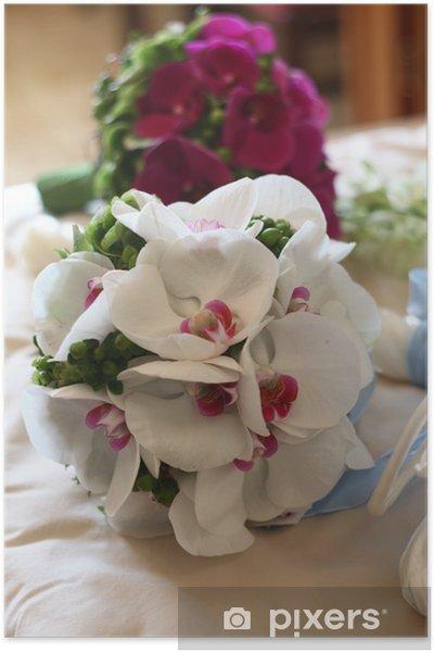 Poster Bouquet De Mariee Orchidee