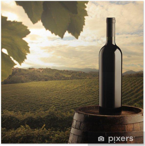 Poster Bouteille de vin rouge - Thèmes