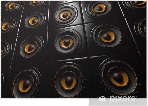 Boxenwand Poster - Hip Hop