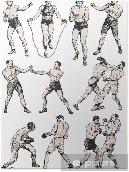 Poster Boxing club - Texturen
