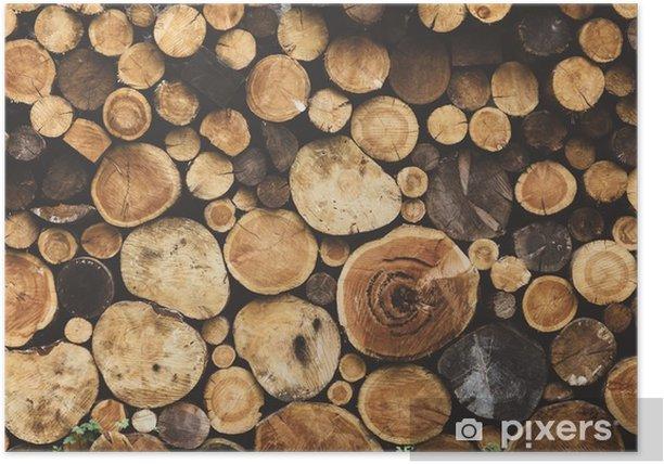 Poster Brandhout houtstructuur - Grafische Bronnen
