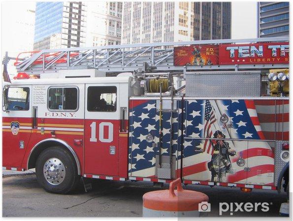 Poster Brandkår - Amerikanska städer