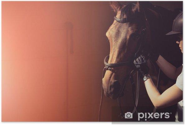 Poster Bride de cheval femme - Animaux