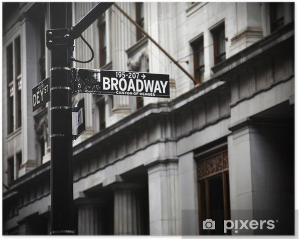 Broadway sign Poster - Themes