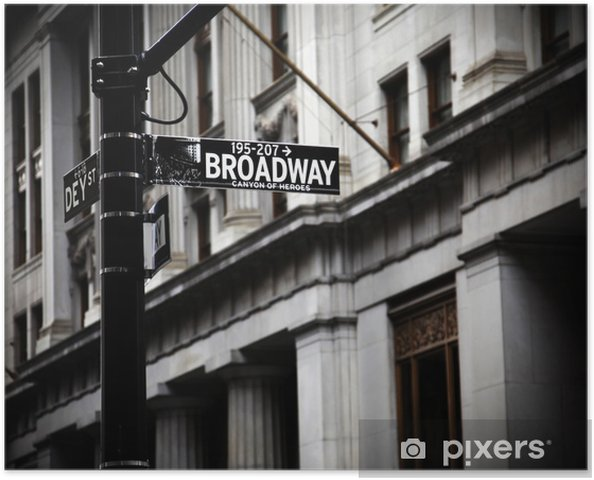 Póster Broadway signo - Temas