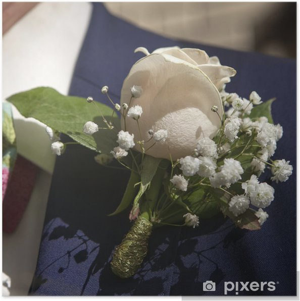 d6c080563559 Poster Bröllop boutonniere på kostym av brudgummen • Pixers® - Vi ...