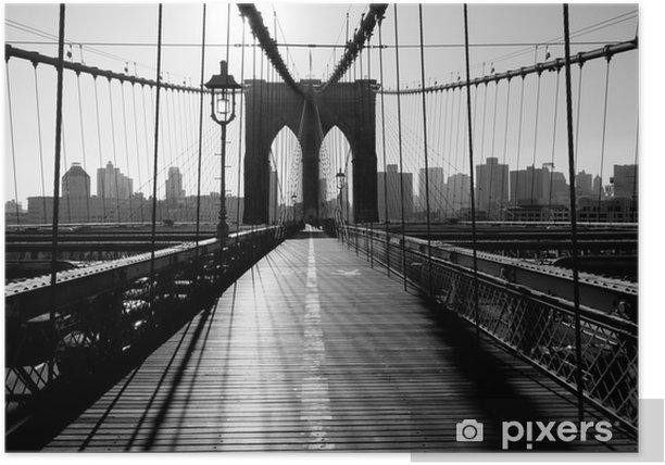Brooklyn Bridge, Manhattan, New York City, USA Poster -