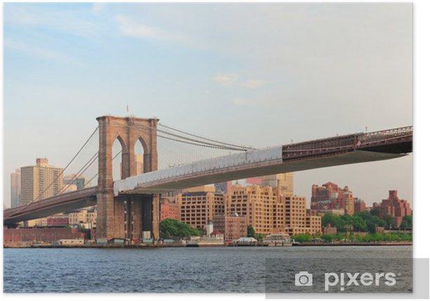 Poster Brooklyn Bridge Panorama - Thèmes
