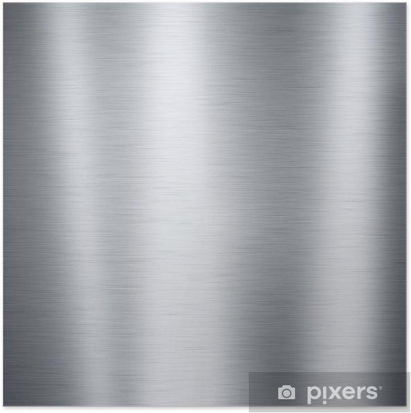 Poster Brossé plaque métallique en aluminium, utile pour les milieux - Styles