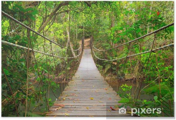 Poster Brug naar de jungle, Khao Yai National Park, Thailand - Stijlen