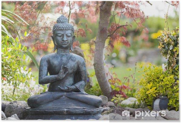 Buddha Figur Im Garten Poster Pixers We Live To Change
