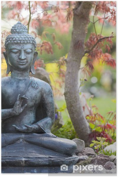 Buddha figur im garten poster pixers we live to change - Buddha figur garten ...