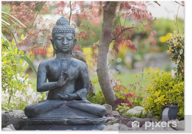 Buddha Figur Im Garten Poster
