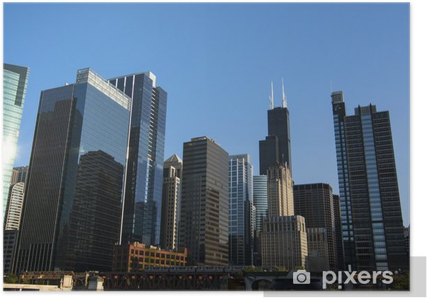 Building view in Chicago, Illinois Poster - Themes