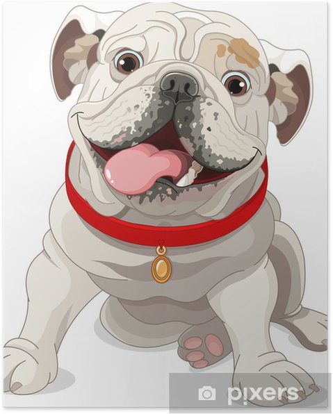 Poster Bulldog english - Sticker mural